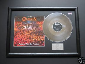 "QUEEN - Friends Will Be Friends PLATINUM 12"" SINGLE WITH Cover"
